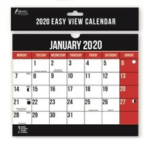 2020 Calendar Easy View Monthly Spiral Bound Wall Planner Month Calendar... - $4.03