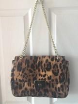 Anne Klein Animal Print Cheetah Leopard Crossbody Messenger Handbag Purse Bag  - $89.99