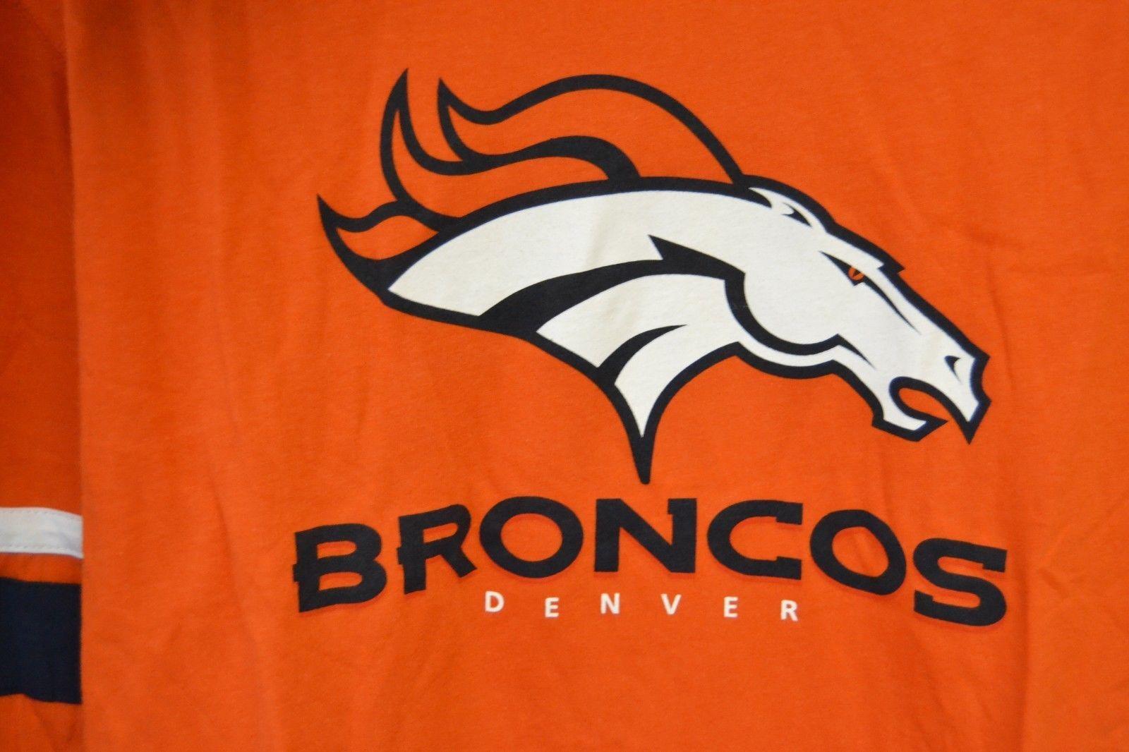 NFL Team Apparel Denver Broncos Orange Long Sleeve Graphic T-Shirt Sz L NWT image 2