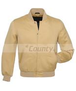 Baseball Letterman College Varsity Bomber  Jacket Sports Wear Ivory Crea... - $49.98+