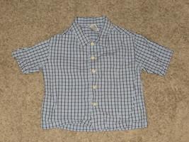 EUC Gymboree Blue Plaid Shirt Size 6-12 6 12 Months - $6.79