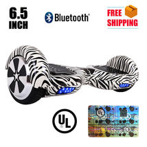 "UL2272 6.5"" Zebra Bluetooth Hoverboard Two Wheel Self Balancing Scooter - $249.00"