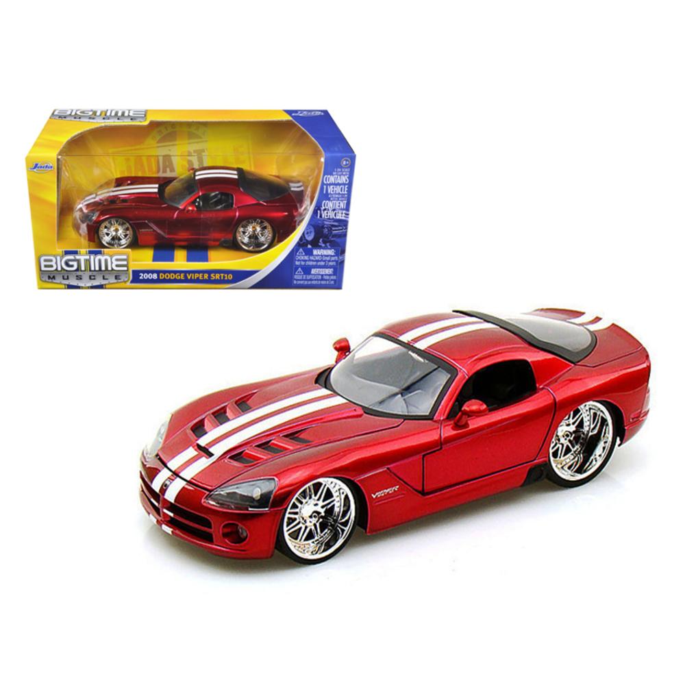 2008 Dodge Viper SRT10 Metallic Red 1/24 Diecast Model Car by Jada 91803r