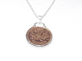 Cinch Pendant 1968 Canadian 1 cent 50th Birthday + 24 inch Sterling Silver Chain - $25.55