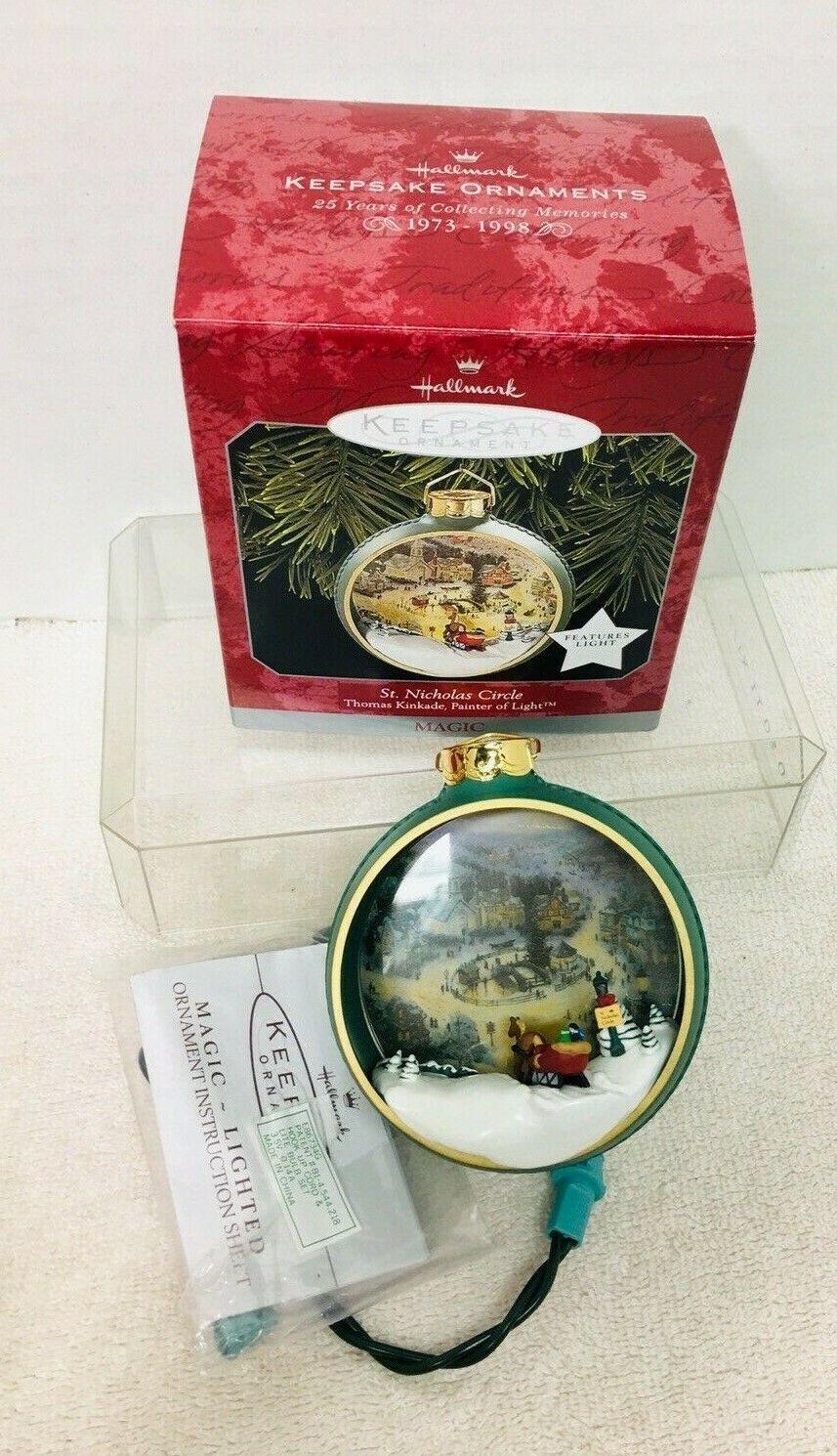 1998 St Nicholas Circle Kinkade Magic Hallmark Christmas Tree Ornament MIB Price