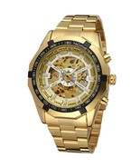 Men Classic Skeleton Automatic Mechanical Watch gold skeleton vintage wa... - $35.31
