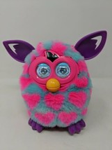 Furby Boom Blue With Pink Hearts Purple Ears & Feet Tested Working VTG 2012 Work - $24.74