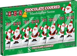 Brach's Chocolate Marshmallow Santas, 8 Count, Pack of 12