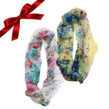 2pc Floral Infinity Scarves Set Sheer Wraps Shawl Christmas Gift Stocking - $9.49