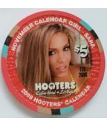 Calendar Girl Sara HOOTERS Casino Hotel Las Vegas $5 Collectible Casino ... - $9.95