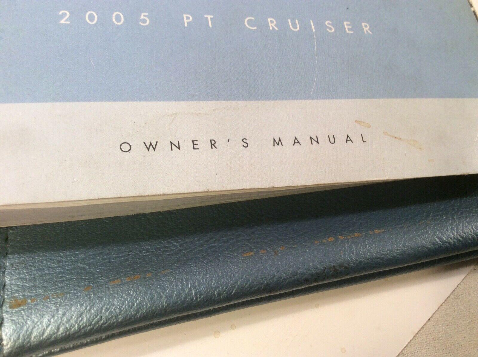 2005 CHRYSLER PT CRUISER OWNERS MANUAL OEM BOOK