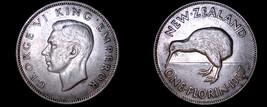 1937 New Zealand 1 Florin World Silver Coin - $74.99