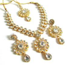 Indian Bollywood Sassy Necklace Wedding Party Kundan Chick Fashion Jewel... - $2.55