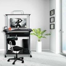 Office Equipment Discounts Commercial Rolling Computer Desk with Printer... - $95.26
