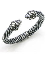 David Yurman Renaissance 10mm Cable Bracelet in Darkened Sterling Silver - $717.75