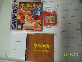 Pokemon Red Version Nintendo GameBoy GB GBC COMPLETE IN BOX NEW SAVE BAT... - $123.10