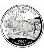 2006-D N º Dakota Brilliant Uncirculated Estado Trimestre - £0.86 GBP
