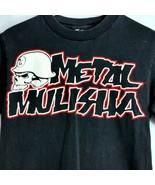 Metal Mulisha Skull Helmet Mens Small Black Tee Shirt Licensed Red White... - $24.99