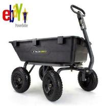 Gorilla Carts 6-cu ft 1200lb Capacity Poly Yard Dump Utility Cart Wheele... - $3.019,91 MXN