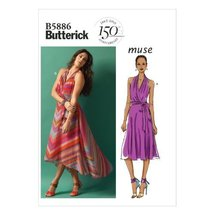 Butterick Patterns B5886 Misses' Dress And Belt Sewing Templates, Size E5 - $11.27