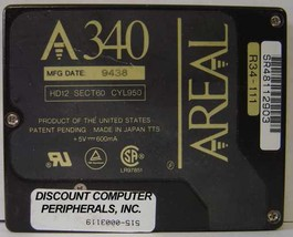 """Areal A340 340MB 2.5"""" 12MM IDE Drive Tested Good Free USA Ship"""