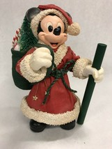 MICKEY MOUSE Santa Vintage 8Inch tall Mid Century Christmas figurine Disney - $33.40