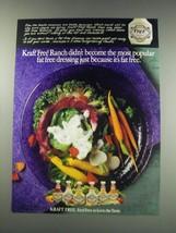 1991 Kraft Free Ranch Dressing Ad - The Most Popular - $14.99