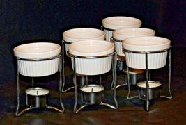 Butter Warmer Ceramic Cups Holders Seafood Crab Lobster Burner Table Set AA19-15 image 4