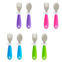 Munchkin Raise Fork & Spoon Set 4 Different Coloured Packs  For The 1 Price - $49.66