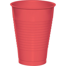 Touch of Color 12 Oz Plastic Cups Coral/Case of 240 - $55.88