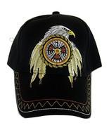 Native Pride Eagle with Target Men's Adjustable Baseball Cap (Black) - $11.95
