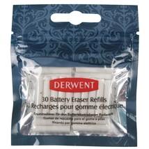 Derwent Pencils Artists Battery Eraser Refills Pack of 30 Rubber Sketching - $3.73