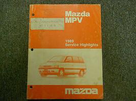 1989 Mazda MPV Service Highlights Service Shop Manuell OEM Buch 89 Fabrik X - $22.28