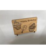 Cupcake Birthday Card - Laser Cut Wood - $20.00