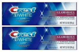 (Pack of 2) Crest 3D White Luxe Glamorous White Vibrant Mint Toothpaste ... - $15.83