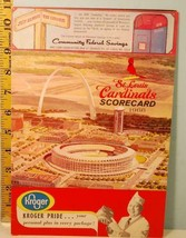 1966 St. Louis Cardinals Baseball Scorecard v Atlanta Braves Aaron, Math... - $29.21