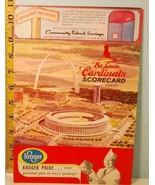 1966 St. Louis Cardinals Baseball Scorecard v Atlanta Braves Aaron, Mathews US - $29.21