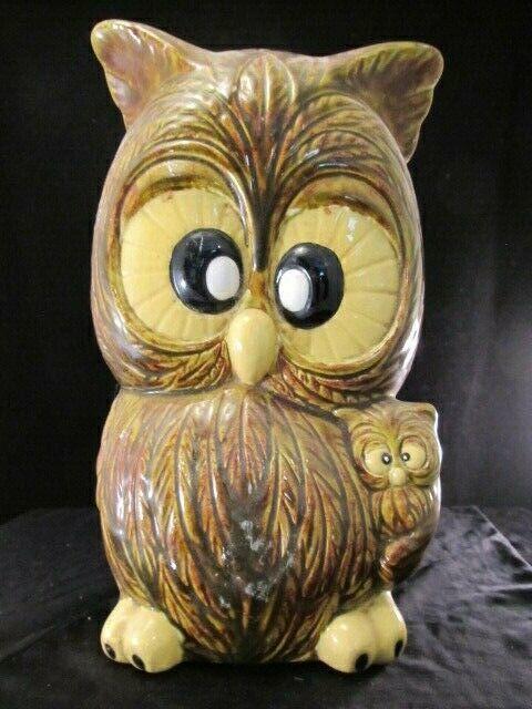 Owls - Crosseyed Brown Owl Bank Vintage