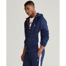 $140 Polo Ralph Lauren Men's Blue Performance French Terry Hoodie Size L - $75.23