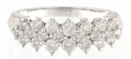 Women's 14kt White Gold Cluster ring - $299.00
