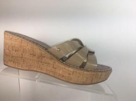 sam edelman Womens Sz 8.5 M Sandals Cork Wedge Heeled Slip On Shoes - $39.77