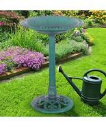 Outdoor Garden Green Pedestal Bird Bath Feeder - $75.99