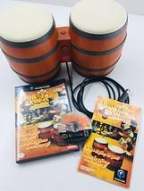 Donkey Konga (Nintendo GameCube, 2004) w/Bongos & Complete Game Bundle G... - $20.30