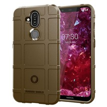 Shockproof Protector Cover Full Coverage Silicone Case for Nokia 8.1 / X7(Brown) - $6.12