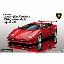 Aoshima 1/24 Lamborghini Countach 5000 Quattrovalvole Injection Ver. Mod... - $73.48