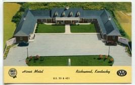Hines Motel Richmond Kentucky linen postcard - $5.89