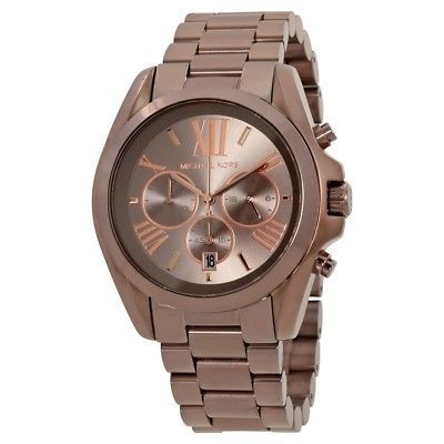 9c86be605a23 1. 1. Previous. Michael Kors MK6247 Women Bradshaw Chronograph Brown Stainless  Steel WristWatch · Michael ...
