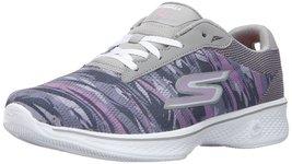 Skechers Performance Women's Go Walk 4 Motion Walking Shoe, Gray/Purple,... - $68.30