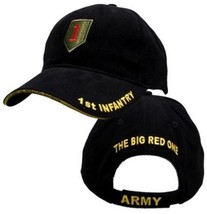 US ARMY 1ST INFANTRY Big Red One - U.S. Army Military Black Baseball Cap... - $23.95