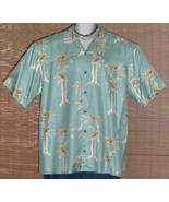 Joseph A Banks Hawaiian Shirt 1960s Green Silk XL - $19.95